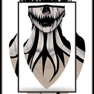Unisex Face Mask Scarf in One Gothic Scary Spooky